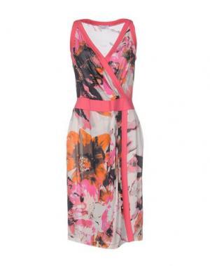 Платье до колена BARONI. Цвет: коралловый