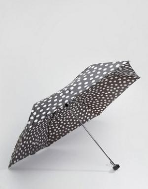 Totes Темно-серый зонт в горошек. Цвет: черный