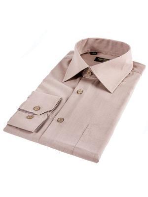 Рубашка Hans Grubber. Цвет: светло-коричневый