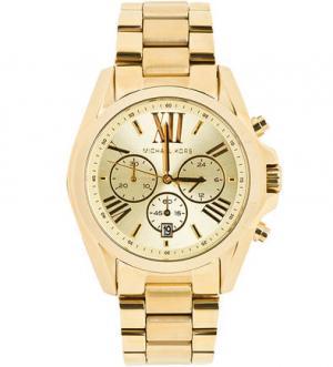 Часы с золотистым металлическим браслетом Michael Kors