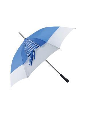 Зонт-трость с шнуровкой Дерево Счастья. Цвет: голубой