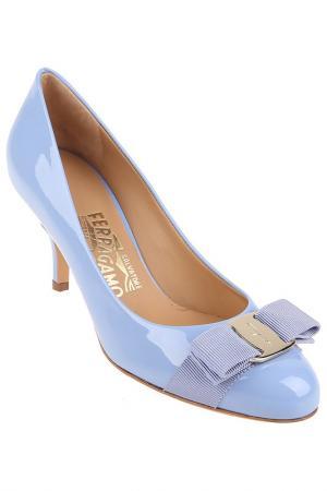 Туфли Salvatore Ferragamo. Цвет: голубой