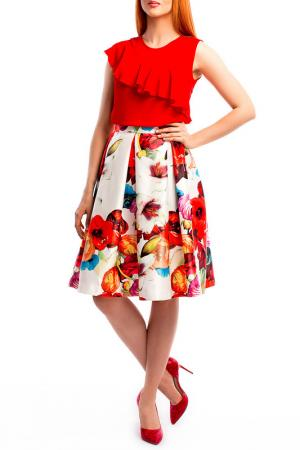 Блуза MoNaMod. Цвет: красный
