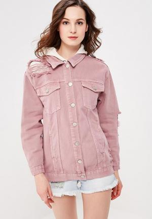 Куртка джинсовая Glamorous. Цвет: розовый