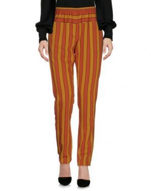 Повседневные брюки LIIS - JAPAN. Цвет: ржаво-коричневый