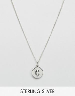 Fashionology Серебряное ожерелье с инициалом C. Цвет: серебряный