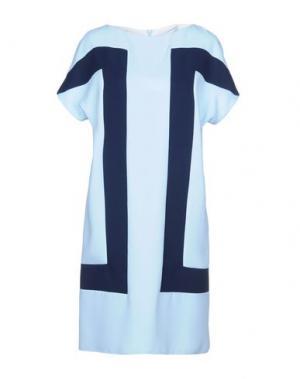 Короткое платье 1-ONE. Цвет: небесно-голубой