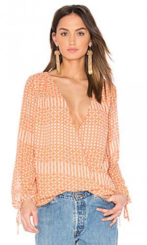 Блуза с запахом и длинным рукавом LAcademie L'Academie. Цвет: розовый