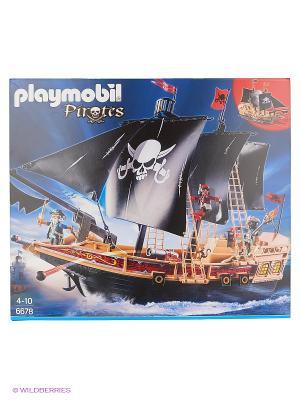 Пираты: Пиратский Боевой Корабль Playmobil. Цвет: черный