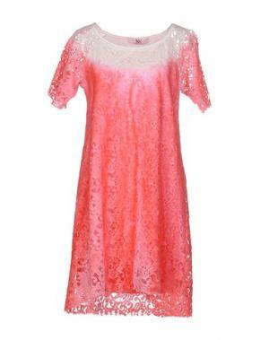 Короткое платье X'S MILANO. Цвет: коралловый