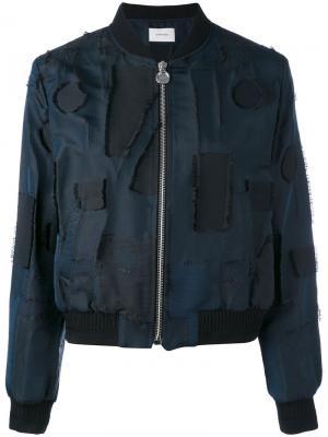 Distressed bomber jacket Carven. Цвет: синий