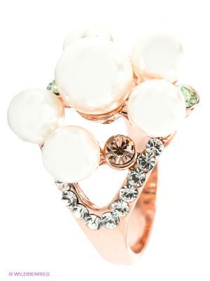 Кольцо Bijoux Land. Цвет: золотистый, белый