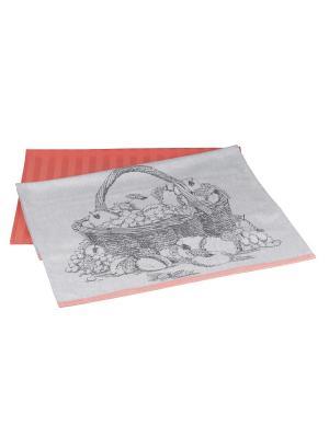 Кухонное полотенце в упаковке 50x70*2 SUMMER HOBBY HOME COLLECTION. Цвет: персиковый