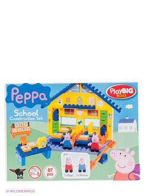 Конструктор школа Peppa Pig BIG. Цвет: синий