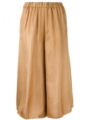 Укороченные широкие брюки Forte. Цвет: жёлтый и оранжевый
