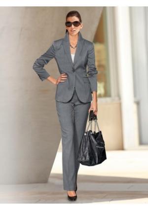 Брючный костюм Class International. Цвет: серо-коричневый, серый меланжевый, темно-синий, черный