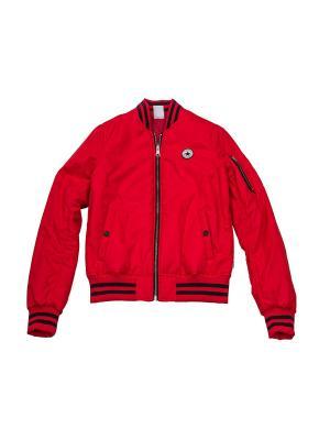 Куртка Core Reversible MA 1 Bomber Converse. Цвет: красный