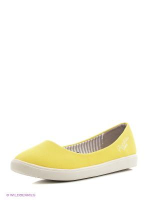 Балетки Dino Ricci. Цвет: желтый