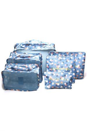 Комплект из 6 органайзеров HOMSU. Цвет: голубой