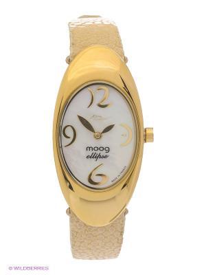 Часы MOOG. Цвет: молочный, золотистый