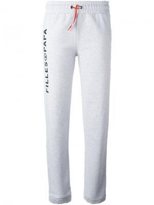 Спортивные брюки Terry Filles A Papa. Цвет: серый