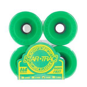 Колеса для скейтборда лонгборда  Star Trac Premium Green 86A 70mm Kryptonics. Цвет: зеленый
