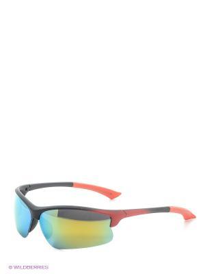 Солнцезащитные очки Vita pelle. Цвет: красный, зеленый
