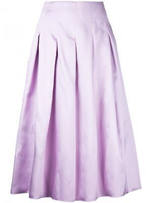 Плиссированная юбка миди Bambah. Цвет: розовый и фиолетовый