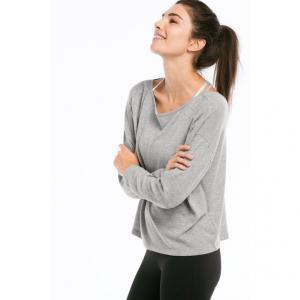 Топ для йоги Selma ELLOS. Цвет: серый меланж