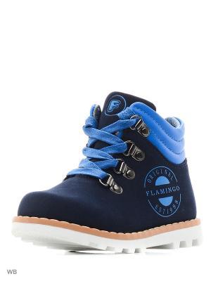 Ботинки Flamingo. Цвет: синий, лазурный
