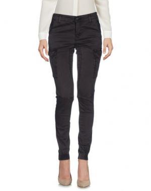 Повседневные брюки YES ZEE by ESSENZA. Цвет: темно-коричневый