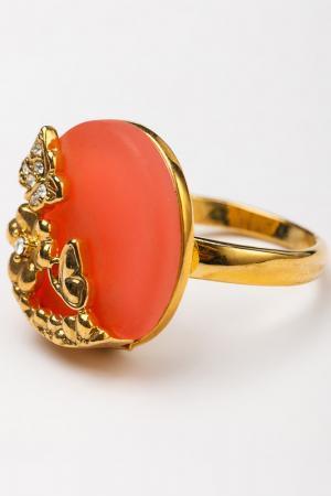 Кольцо CHANTAL. Цвет: коралловый