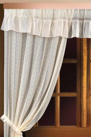 Комплект штор для кухни Злата Корунка. Цвет: кремовый
