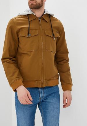 Куртка утепленная Billabong. Цвет: коричневый