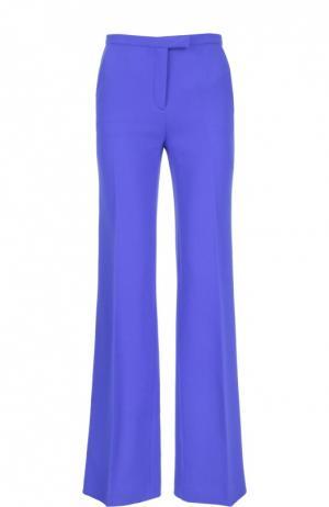 Расклешенные шерстяные брюки со стрелками Kiton. Цвет: синий