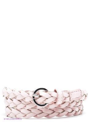 Пояс Oodji. Цвет: бледно-розовый