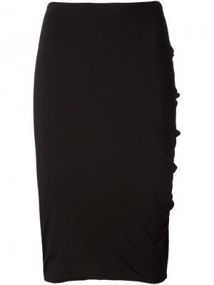 Драпированная юбка Audra. Цвет: чёрный