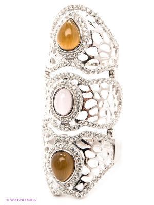 Кольцо Art Silver. Цвет: серебристый, бледно-розовый, коричневый