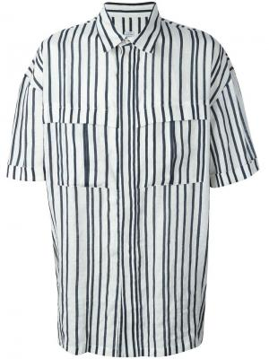 Рубашка Derek E. Tautz. Цвет: синий