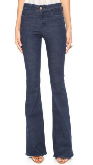 Расклешенные джинсы Marrakesh Micro M.i.h Jeans. Цвет: голубой