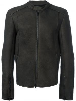 Куртка на молнии Isabel Benenato. Цвет: коричневый
