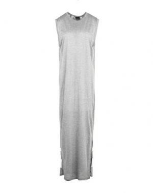 Длинное платье PINKO. Цвет: серый