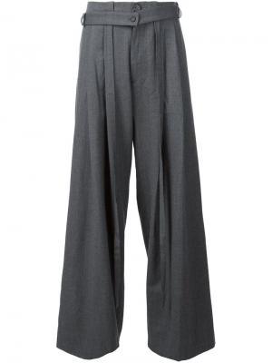 Широкие брюки Icosae. Цвет: серый