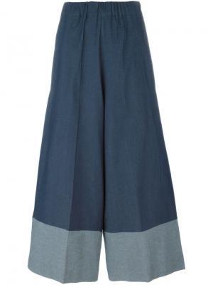 Двухцветные брюки палаццо Antonio Marras. Цвет: синий