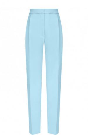 Однотонные брюки прямого кроя со стрелками MRZ. Цвет: голубой