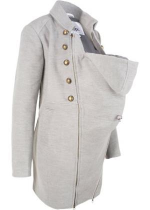 Пальто для беременных с карманом-вкладкой малыша (светло-серый меланж) bonprix. Цвет: светло-серый меланж