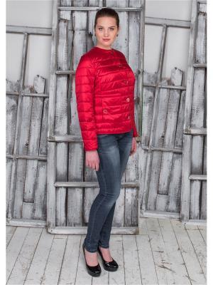 Куртка Кармен Versia. Цвет: красный