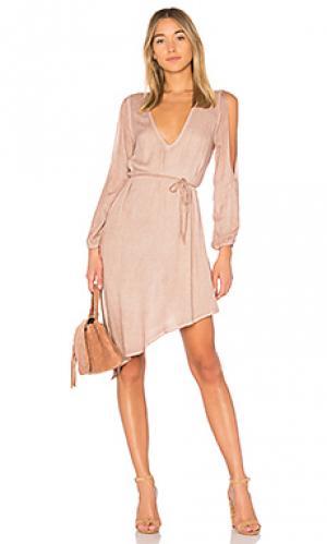 Платье janelle YFB CLOTHING. Цвет: серо-коричневый