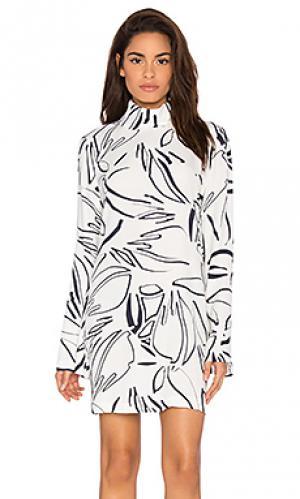 Мини платье ultra bell sleeve Viktoria + Woods. Цвет: белый
