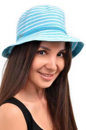 Шляпа DelMare. Цвет: белый, бирюзовый